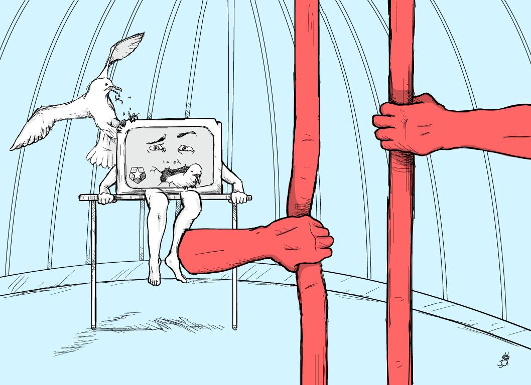 Ilustración en defensa de una radio televisión pública